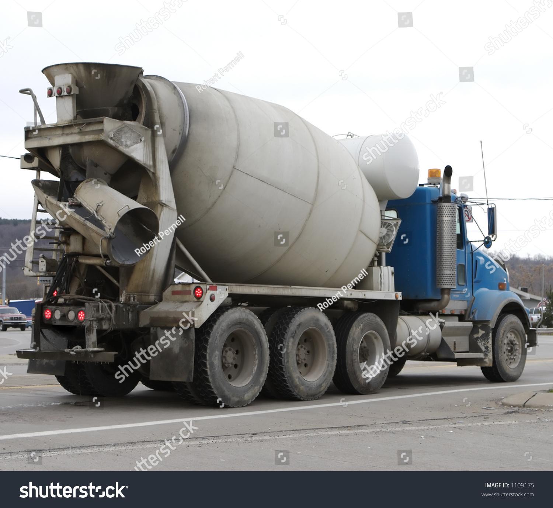 cement mixer truck stock photo 1109175 shutterstock. Black Bedroom Furniture Sets. Home Design Ideas