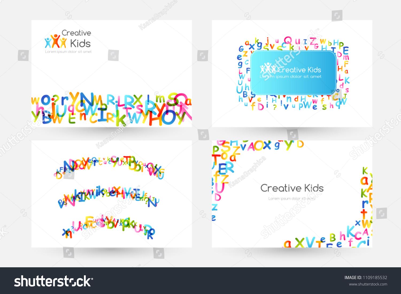 Kids Creative Education Concept Rainbow Alphabet Stock Vector