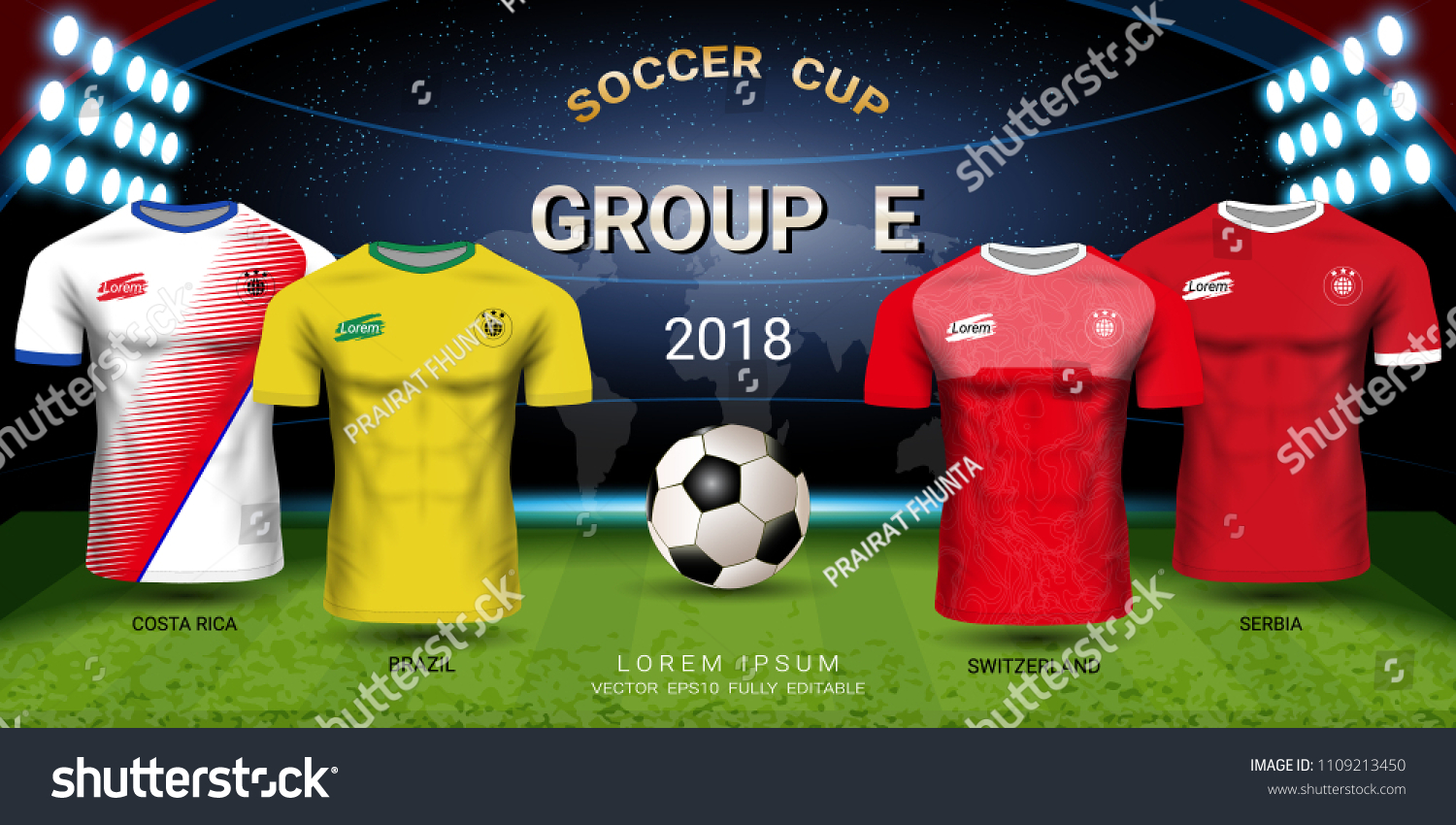 52738a1a0e2 Football cup 2018 World championship, National team soccer jersey group E,  Sport t-