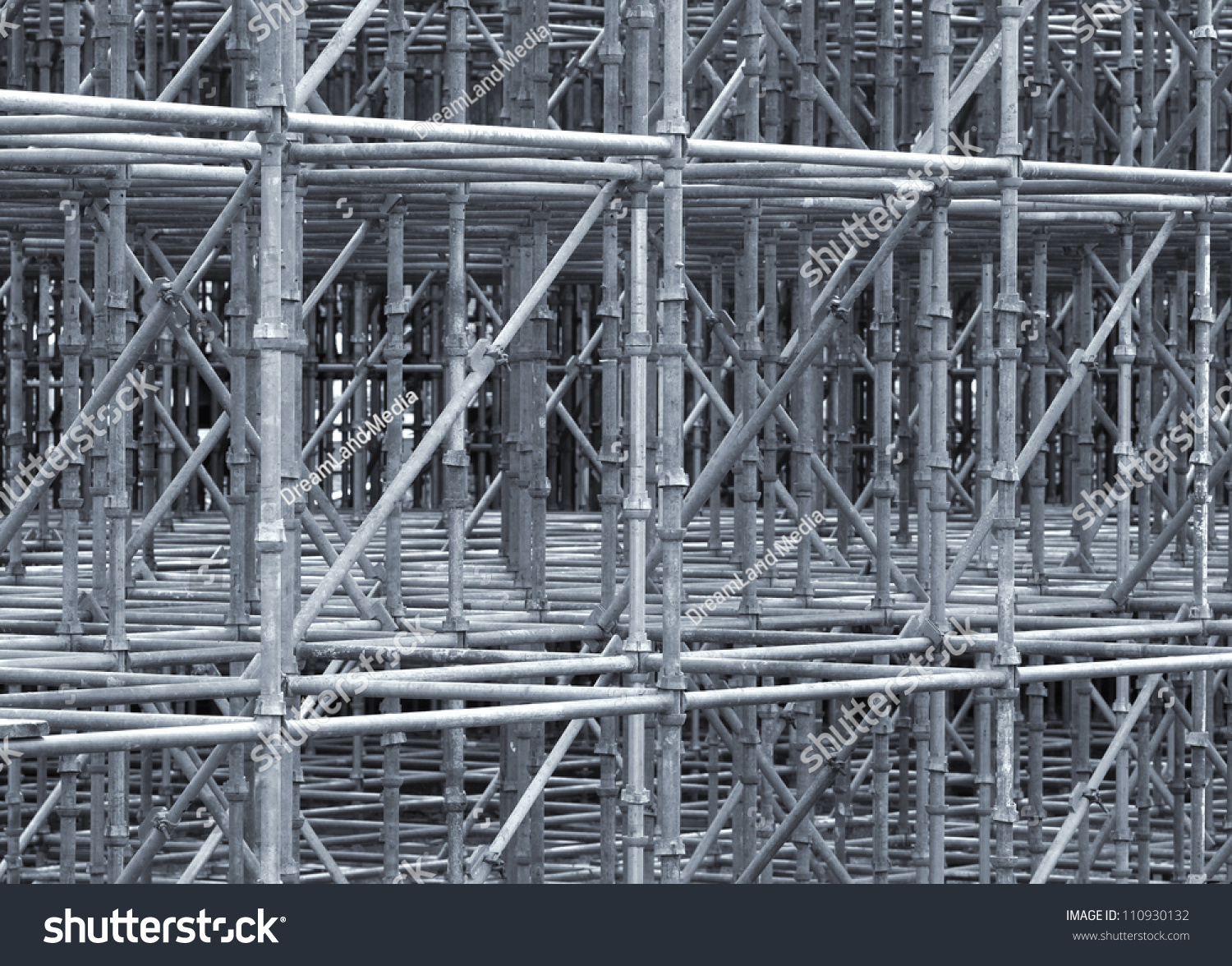 Steel Scaffolding Japan : Supporting scaffold construction steel pipes stock photo
