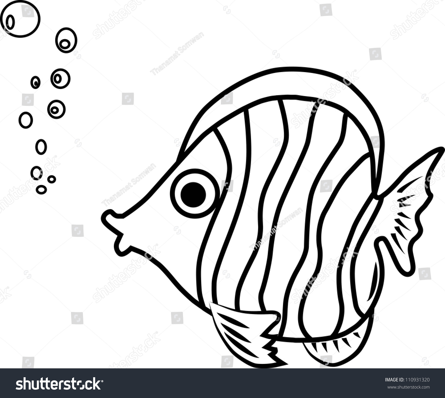 Fish Paint By Illustrator Stock Vector 110931320 ...