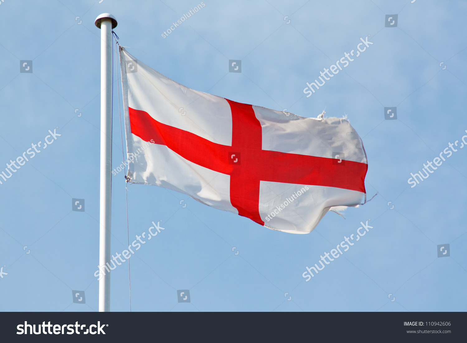 national flag england english st georges stock photo 110942606