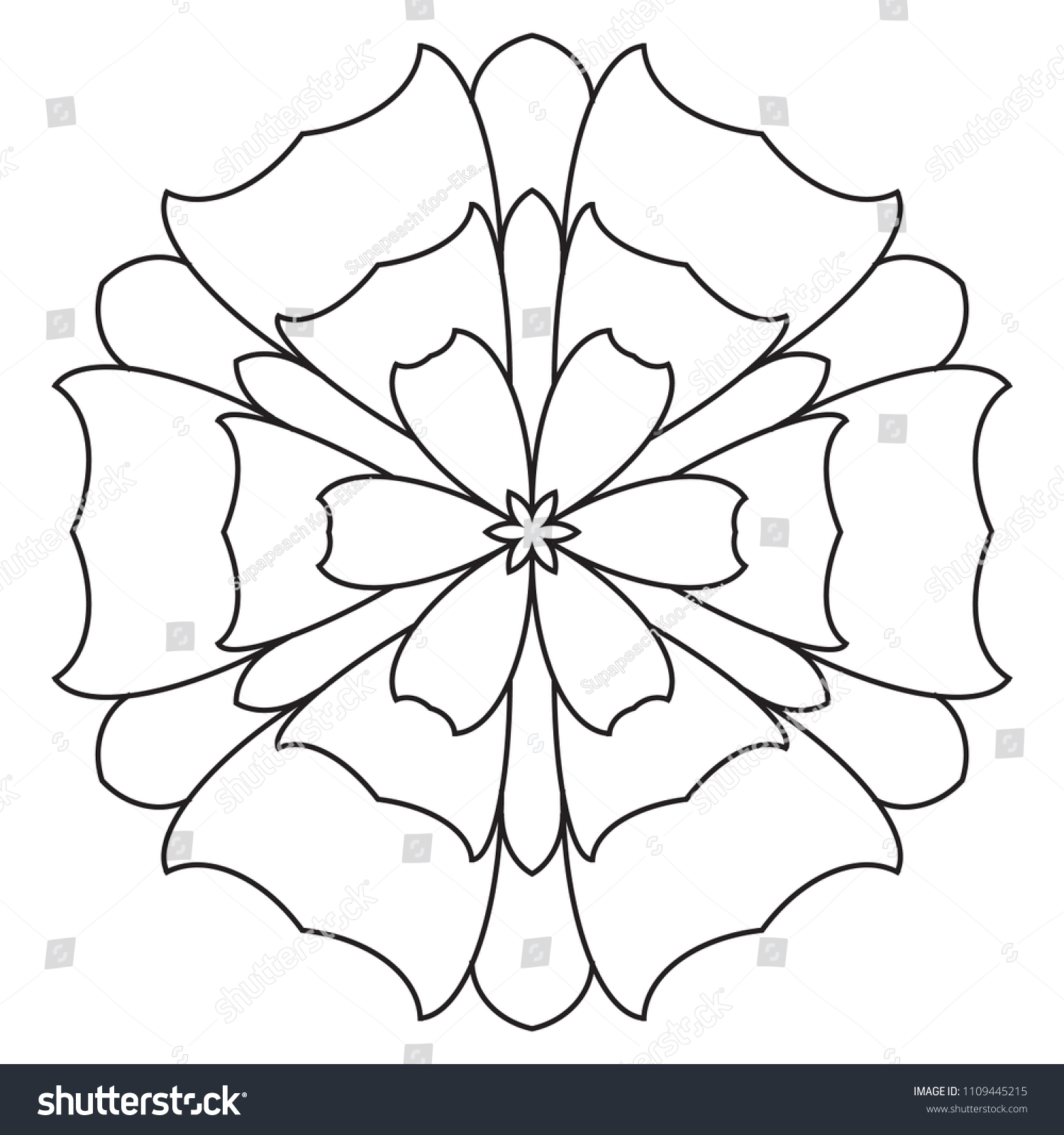 stock photo easy mandalas for beginners mandala pattern for seniors kids and adults doodle pattern flowers