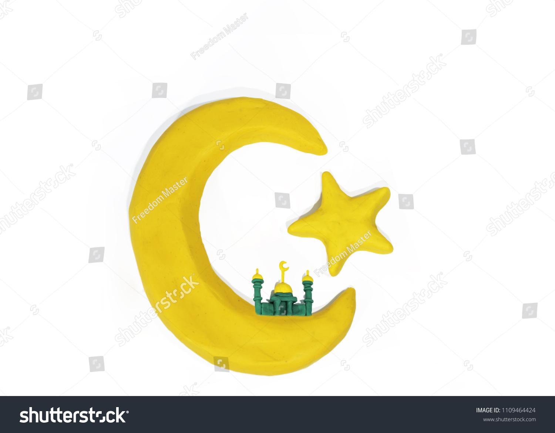Symbols Islam Objects Made Play Clay Stock Photo Royalty Free