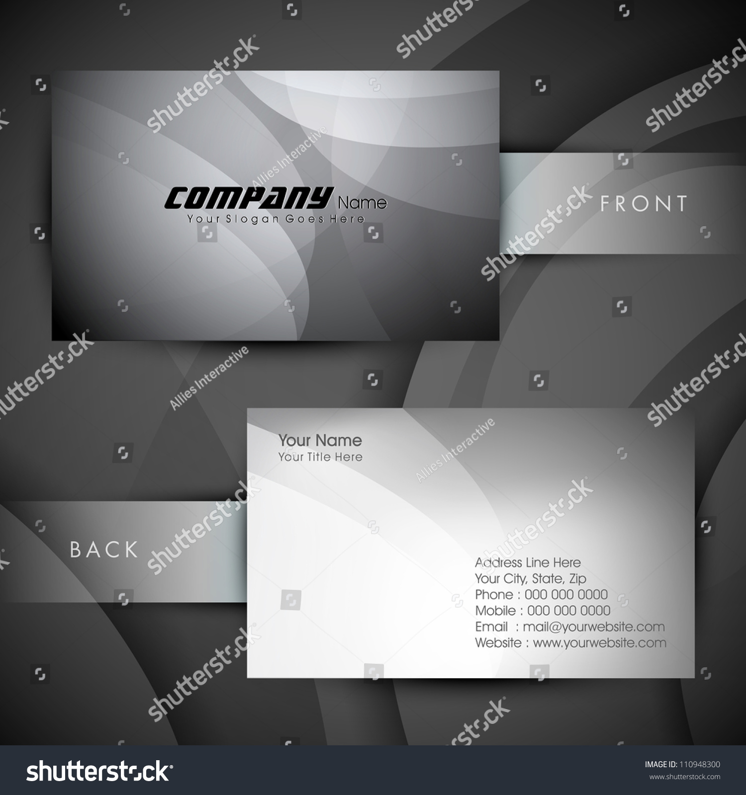 abstract professional designer business card template stock vector