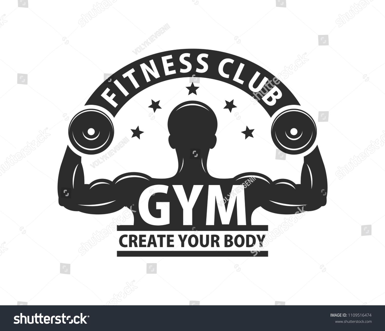 Gym Logo Template Bodybuilding Fitness Club Stock Vector 1109516474 ...