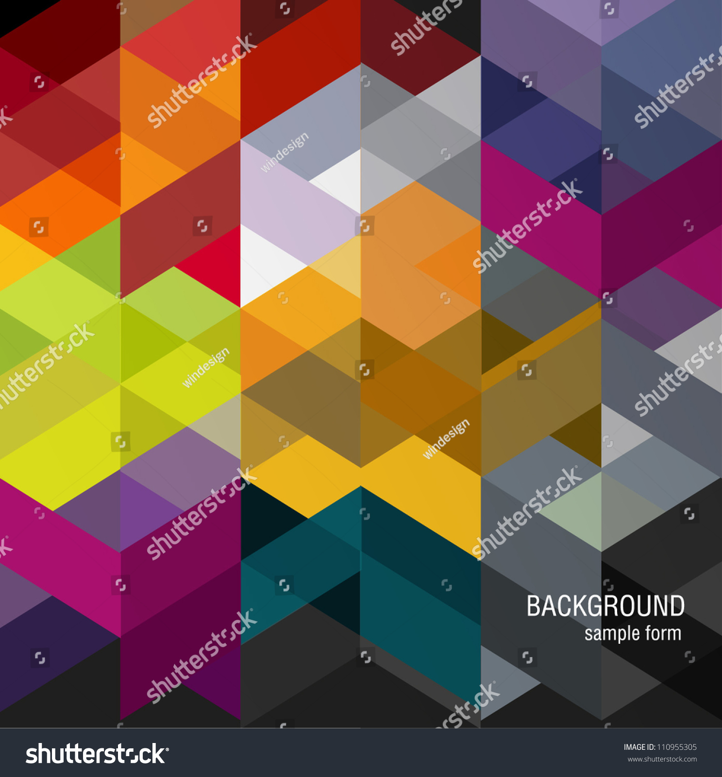 Abstract Background Stock Vector 110955305