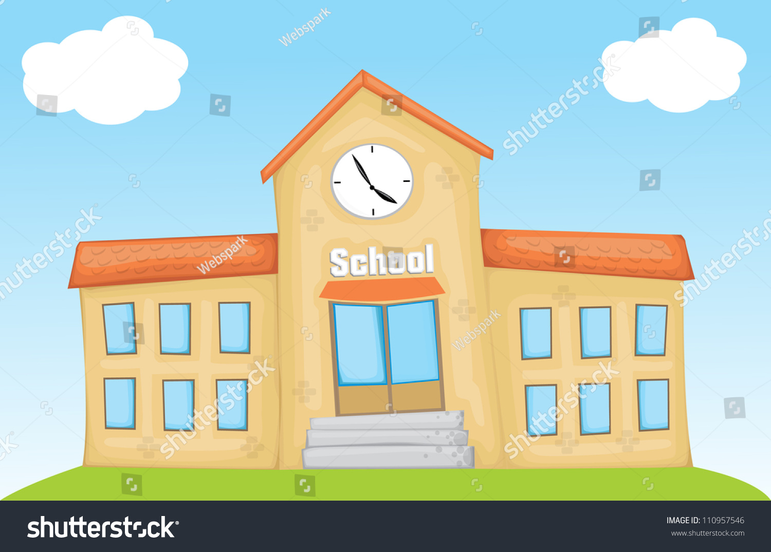 cartoon school eps10 stock vector 110957546 shutterstock