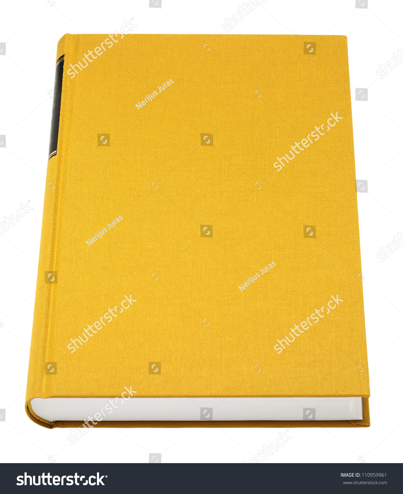 Book With Black And Yellow Cover : Yellow book isolated on white black stock photo