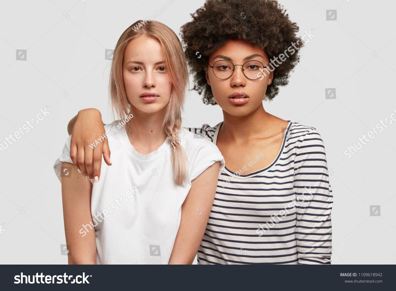 Pretty mixed women