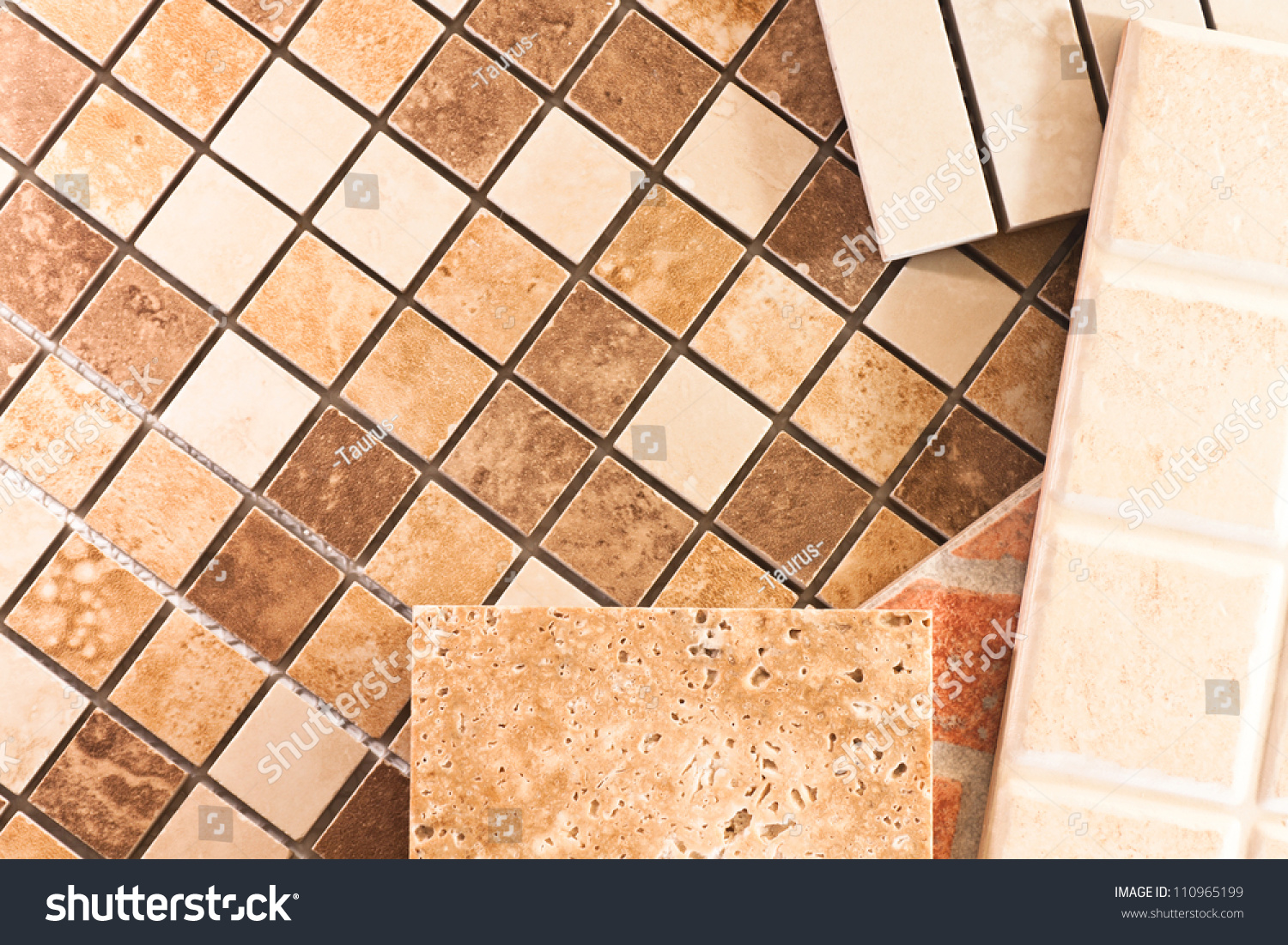Ceramic tiles of different types  colors and shapes. Ceramic Tiles Different Types Colors Shapes Stock Photo 110965199