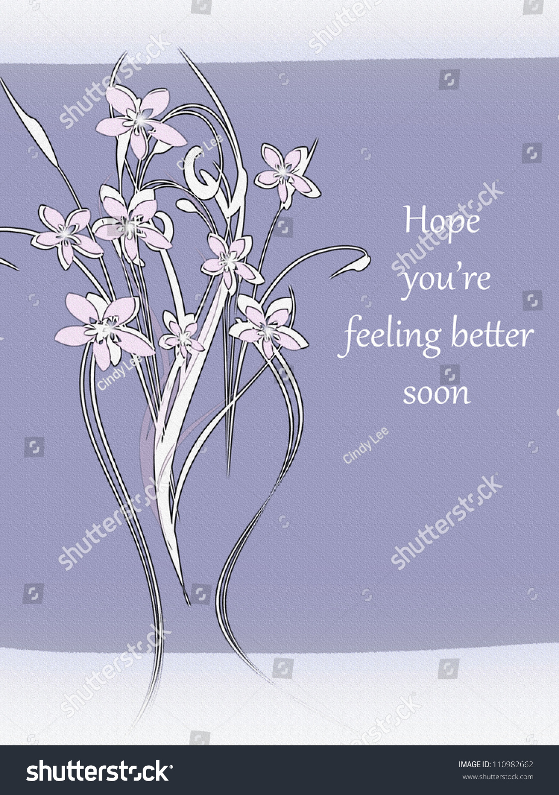 Flowers Hope Youre Feeling Better Soon Stock Illustration Royalty