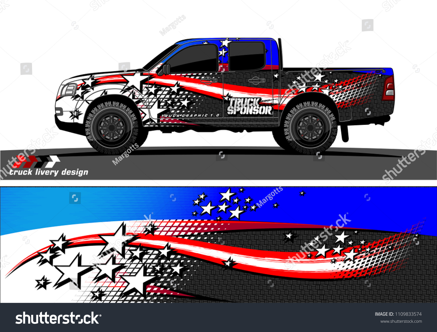 Truck decal vector design abstract grunge background for vehicle vinyl wrap