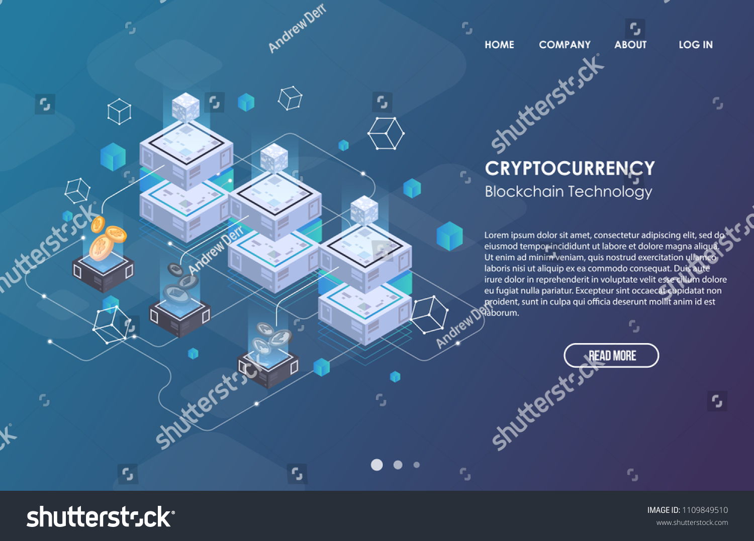 Blockchain Network Business Template Cryptocurrency Blockchain Stock ...