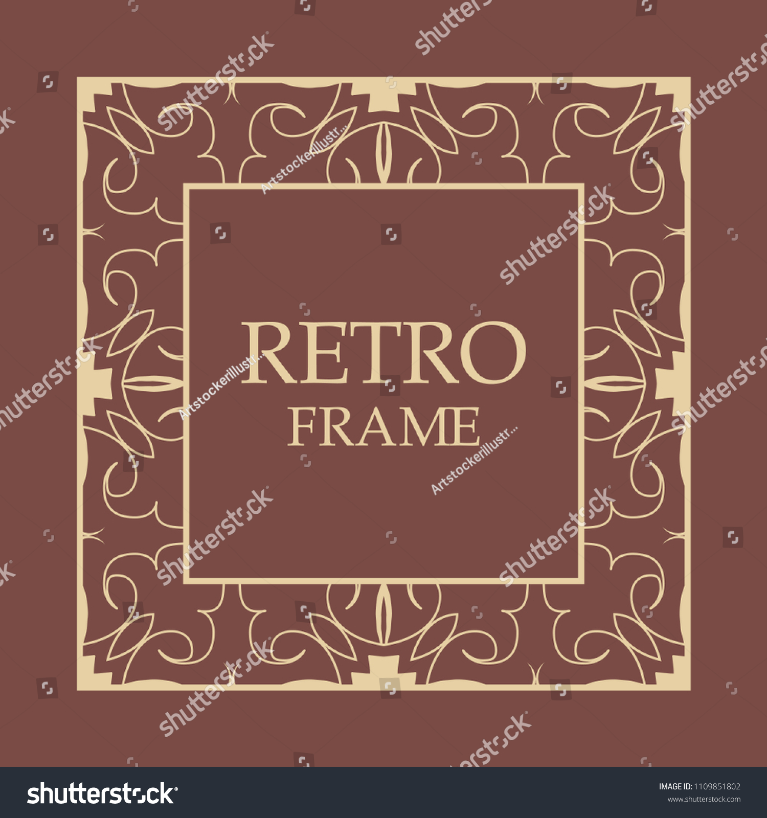 Ornate Vintage Card Design Ornamental Border Stock Vector (Royalty ...