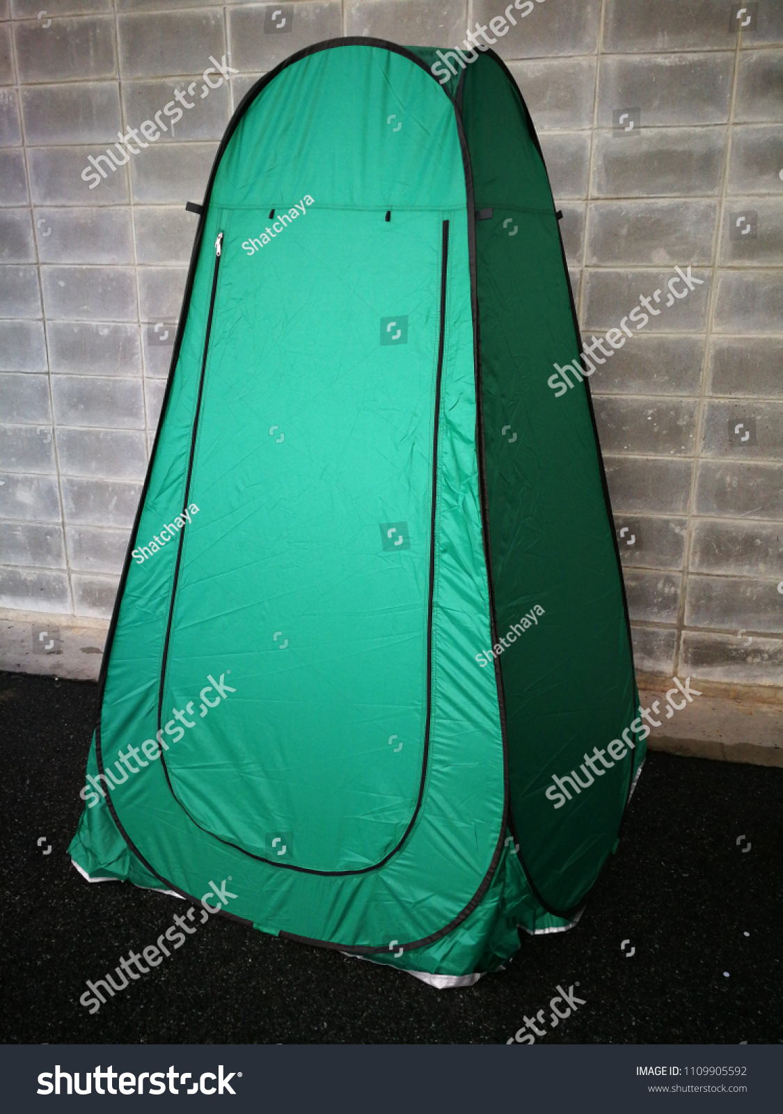 dark green bathroom tents for c&er wear or change clothes outdoor & Dark Green Bathroom Tents Camper Wear Stock Photo (Edit Now ...