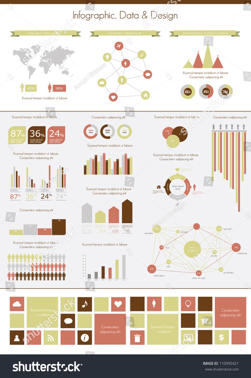 Retro infographics set world map information stock vector retro infographics set world map and information graphics gumiabroncs Gallery