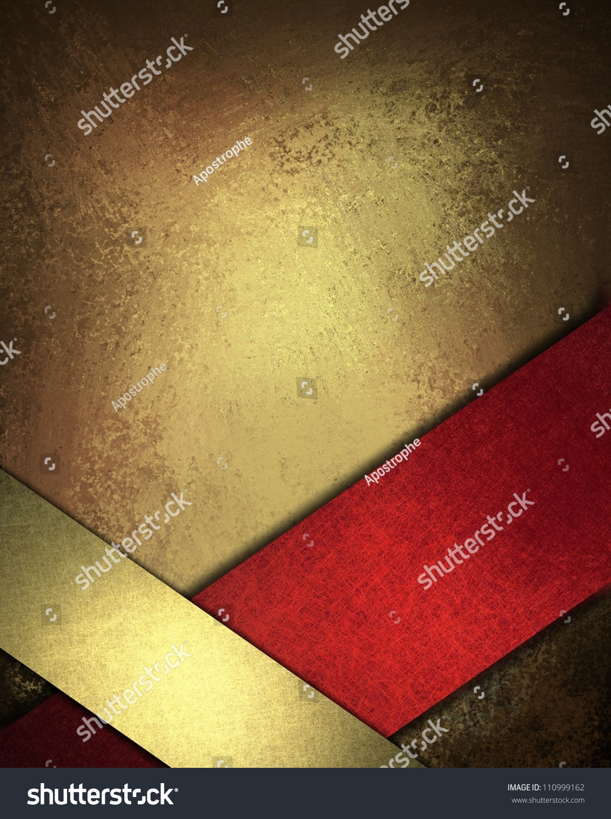 Red Gold Background Design Layout Abstract Stock