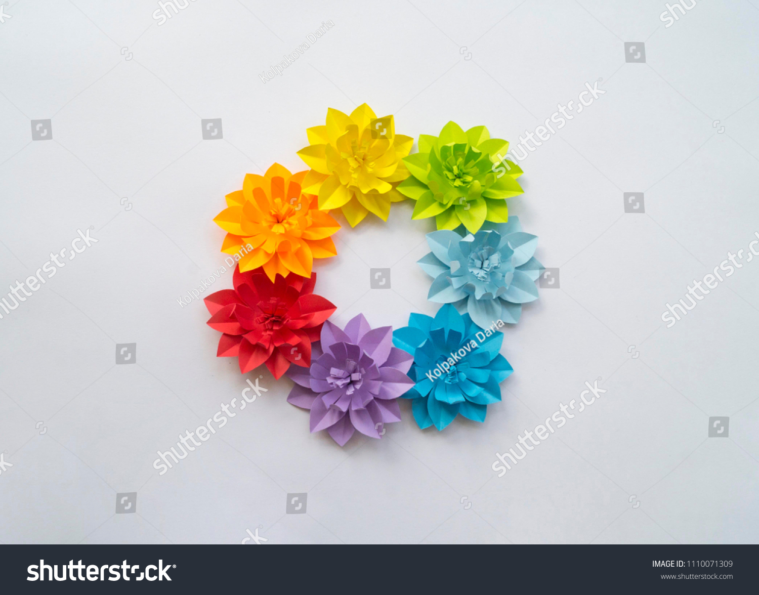 Paper Craft Flower Rainbow Decoration Concept Stock Photo Edit Now