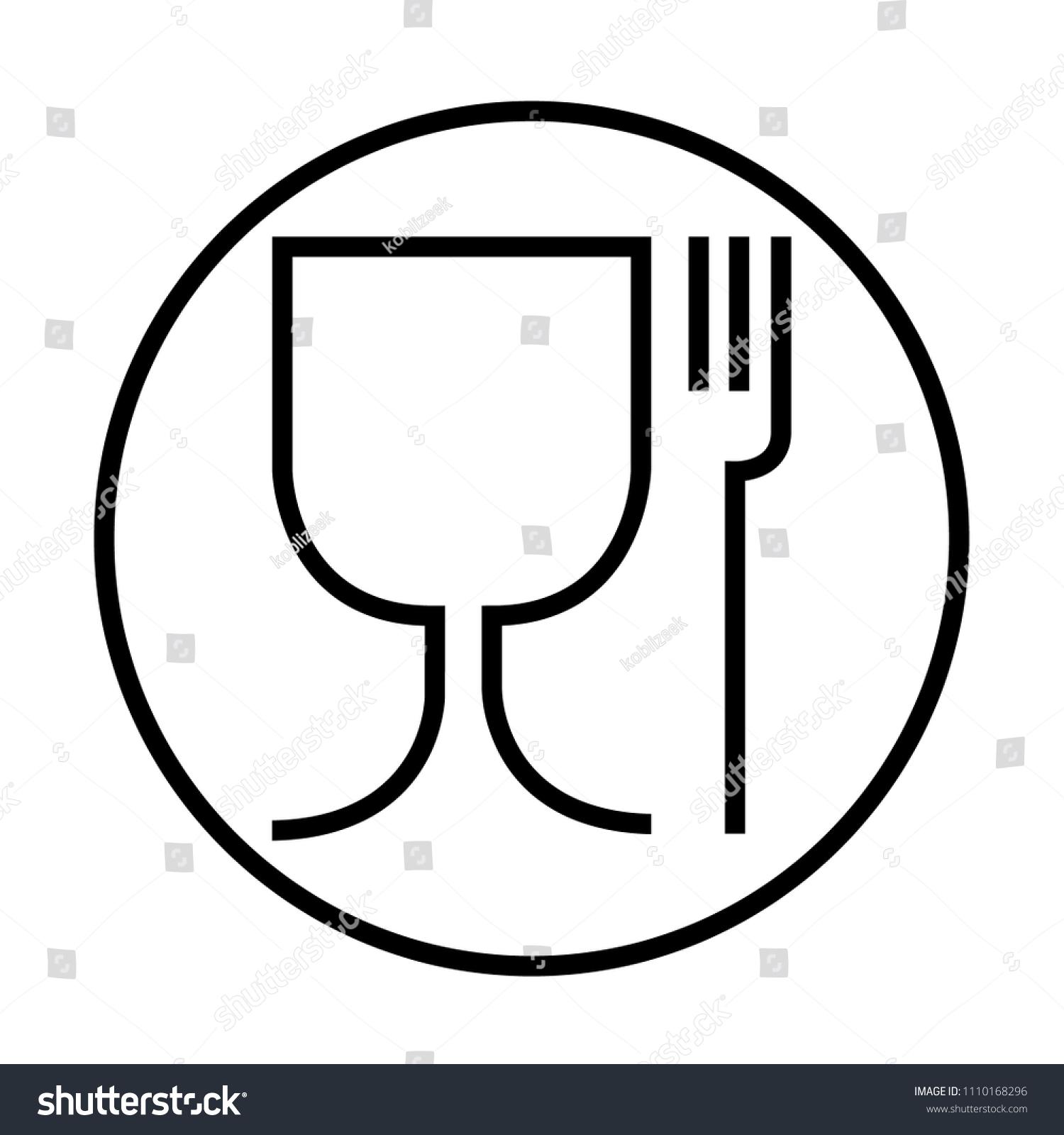 Food Safe Symbol International Icon Food Stock Vector Royalty Free