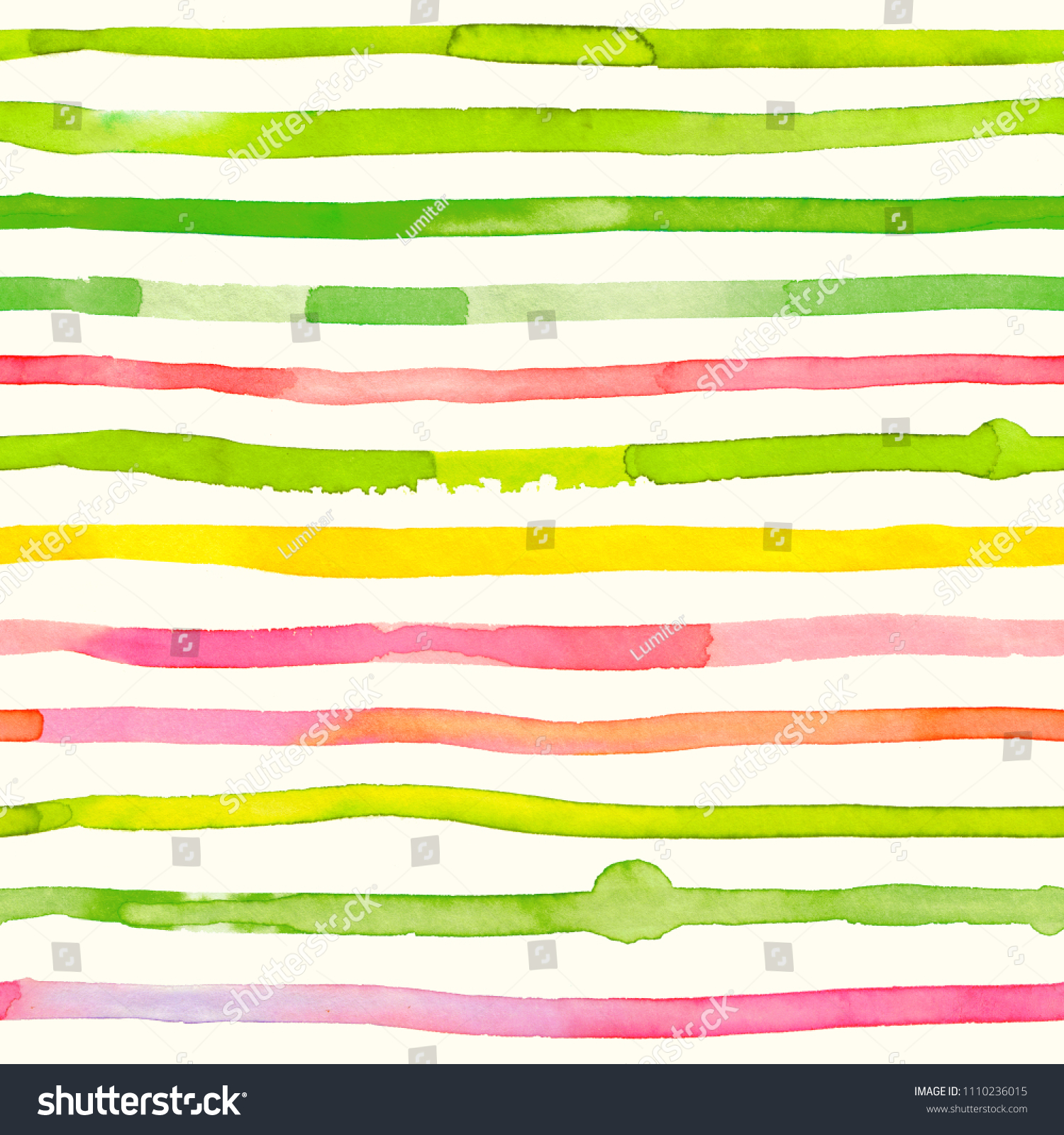 Colorful Watercolor Stripes  Abstract Seamless Pattern Bright And Happy