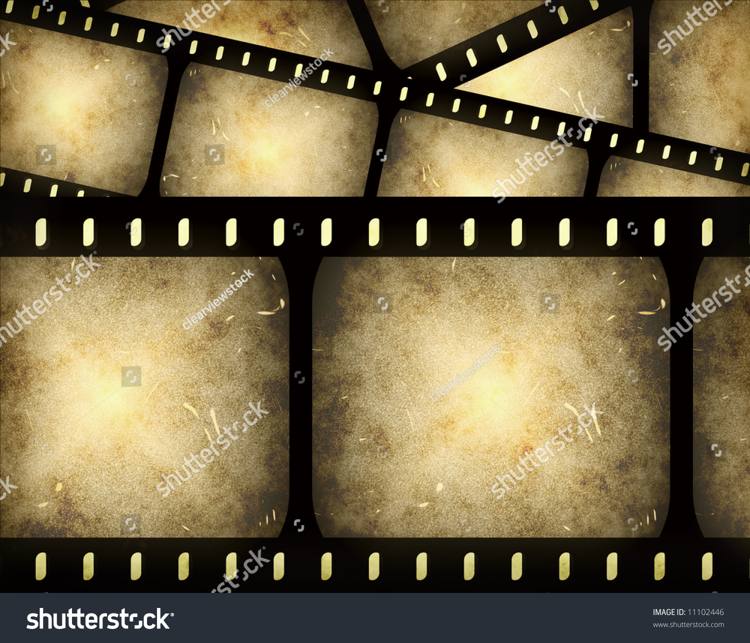 Abstract Composition Movie Frames Film Strip Stock Illustration ...