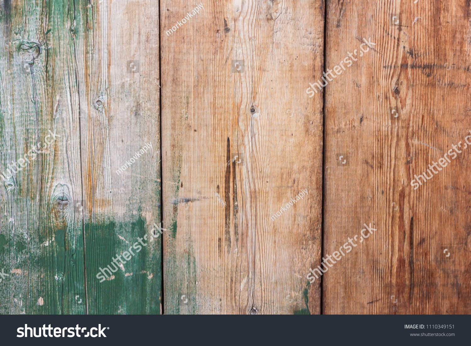 Green Barn Wooden Wall Paneling Wide Stock Photo Edit Now 1110349151