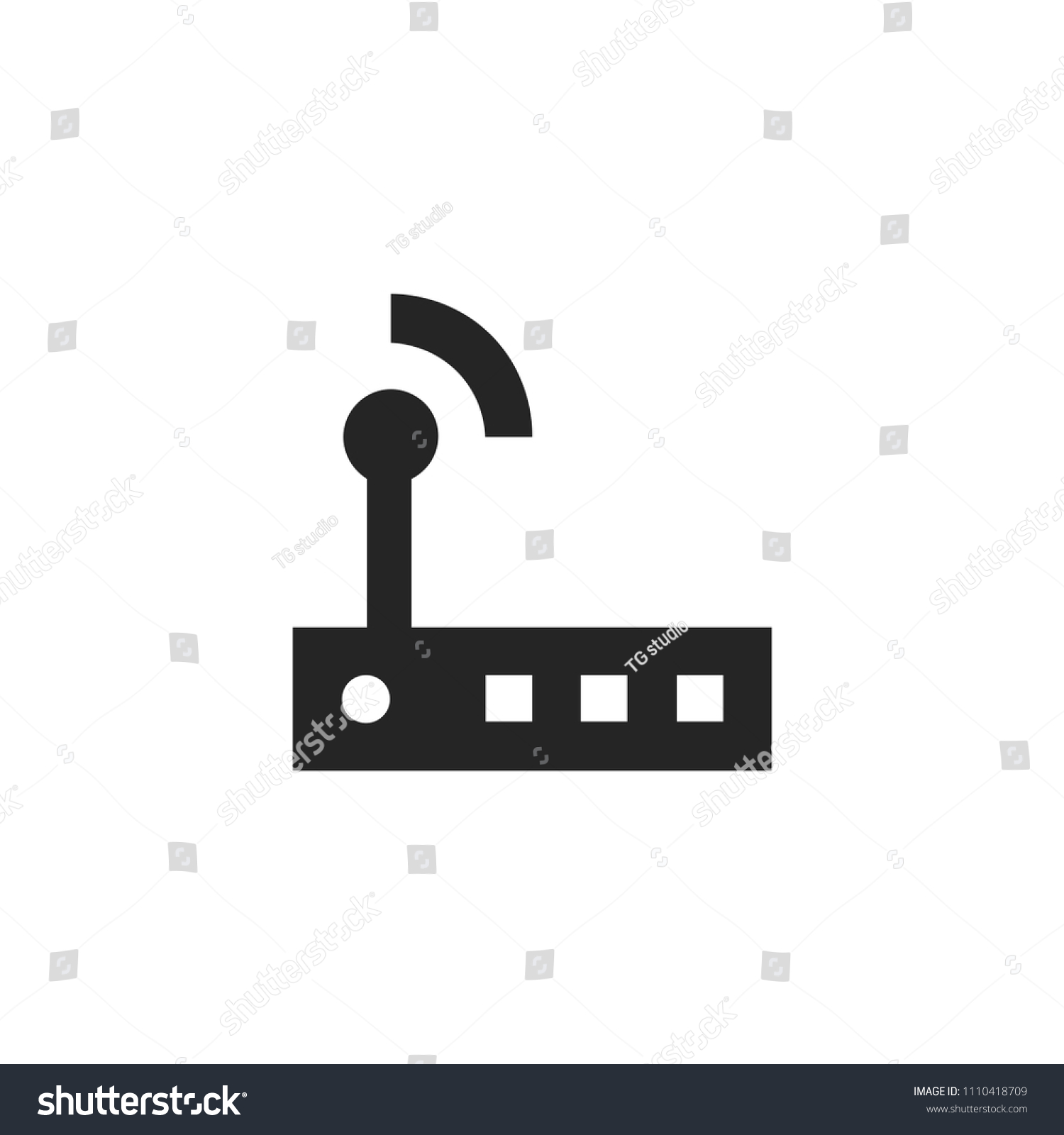 Modem Router Icon Wireless Symbol Stock Vector Royalty Free Diagram
