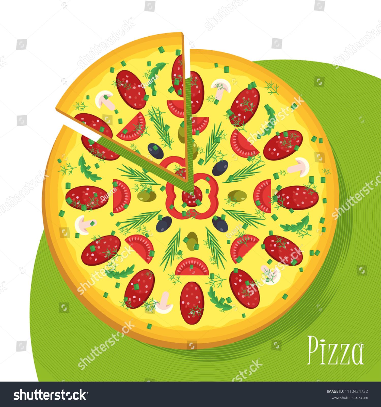 italian pizza poster template appetizing filling stock vector