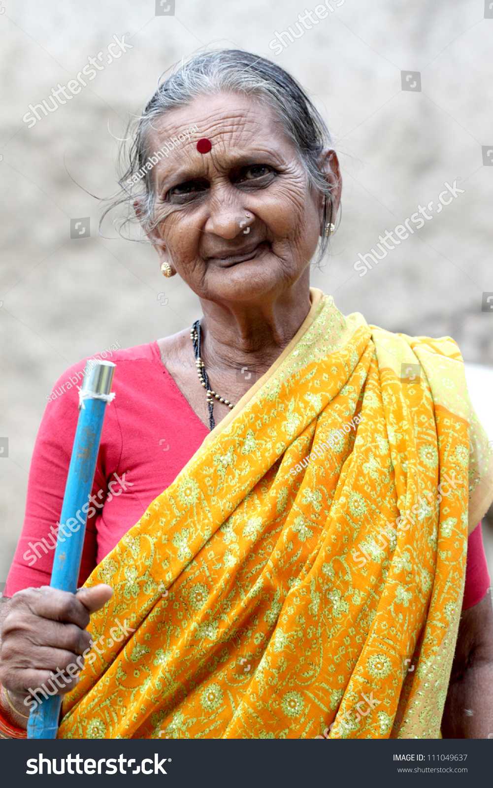 Portrait Indian Old Woman Stock Photo 111049637 - Shutterstock-2568