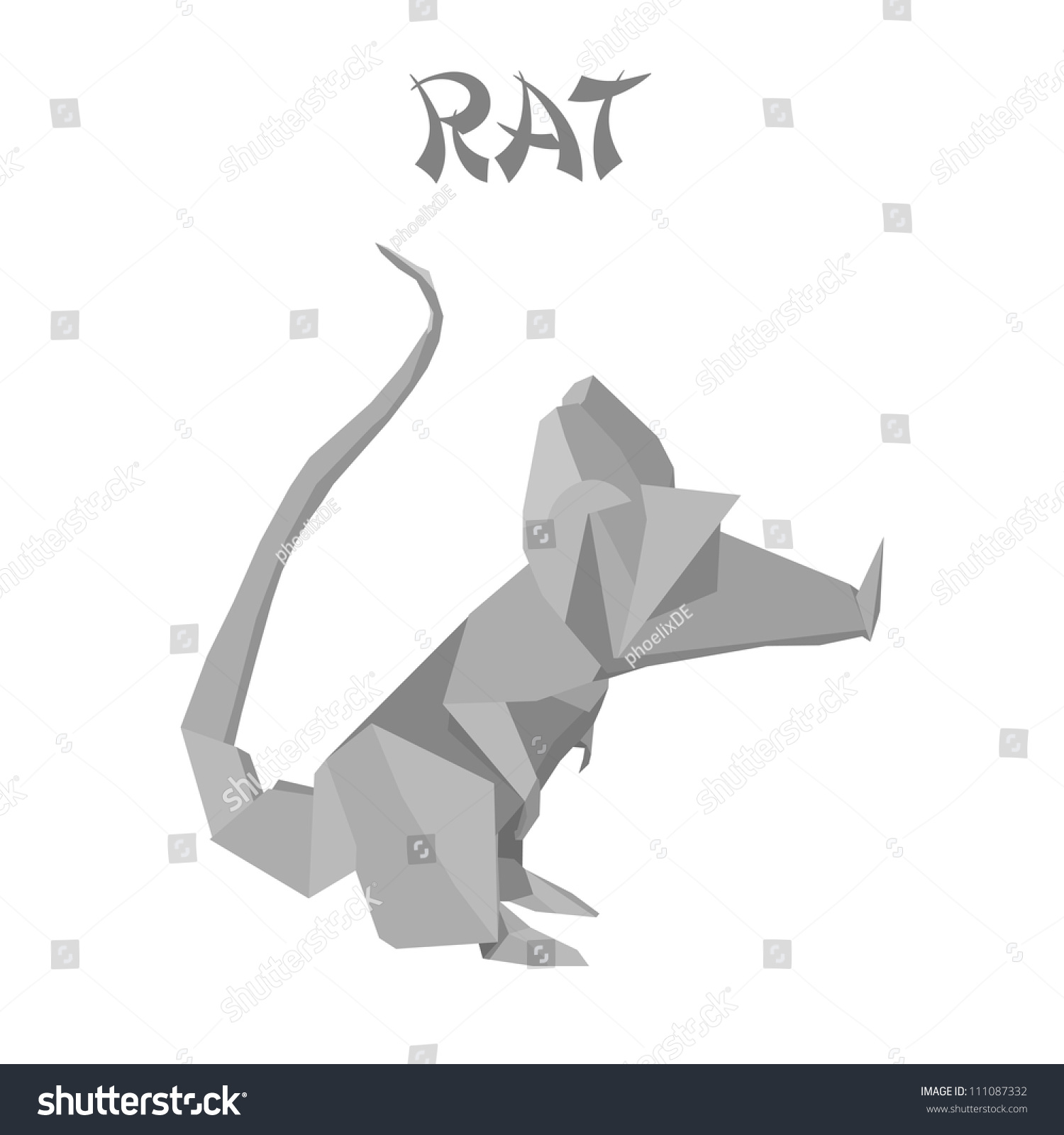 Illustration origami rat stock vector 111087332 shutterstock jeuxipadfo Images