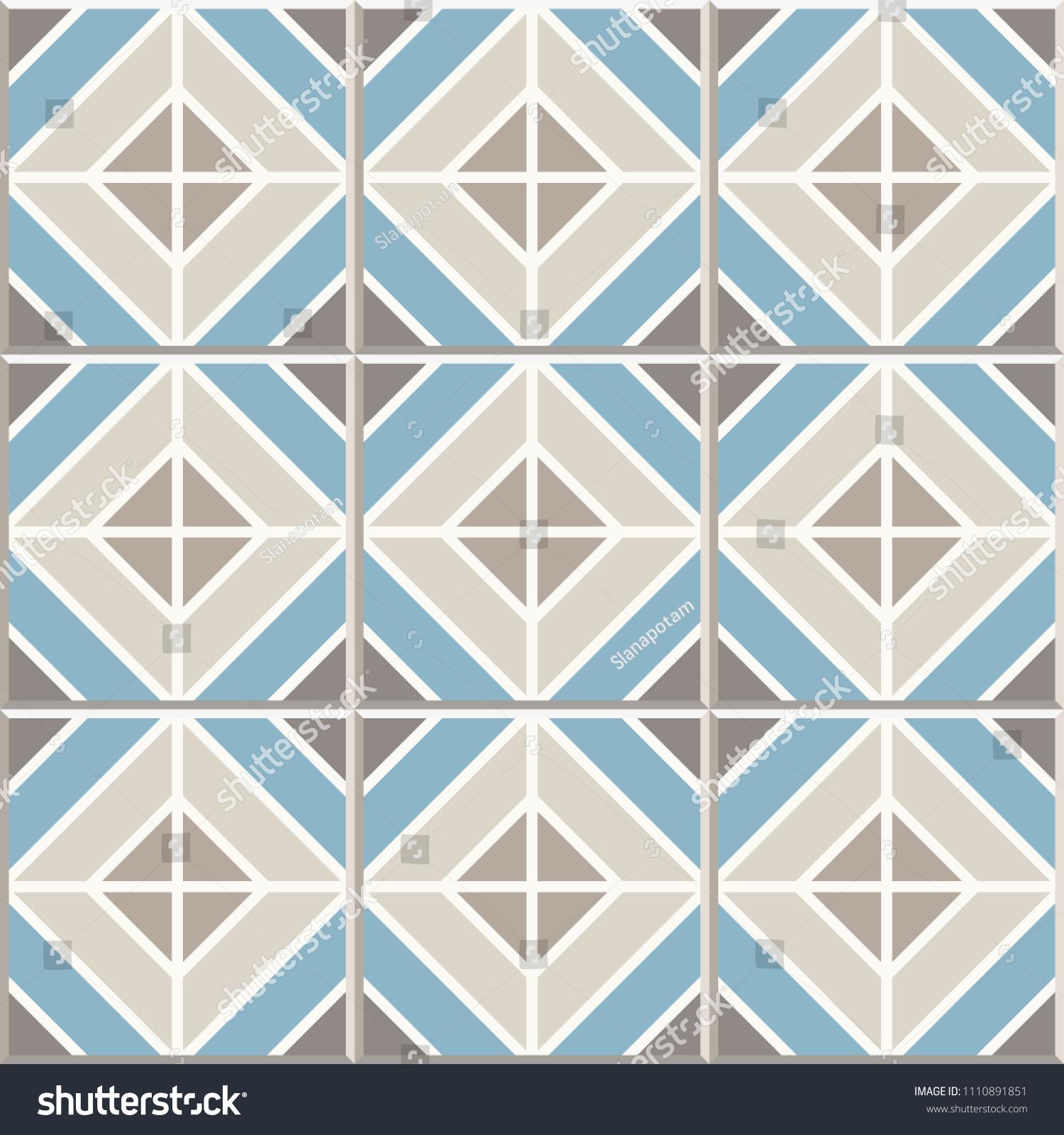 Ancient Floor Ceramic Tiles Flooring Tiling Stock Vector 1110891851 ...