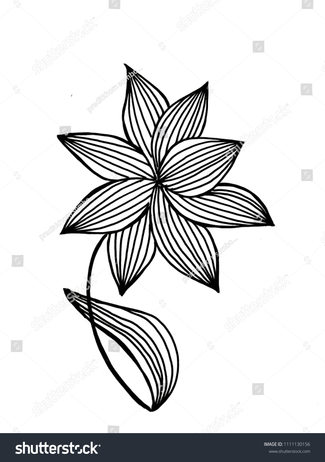 Lotus flower illustration on over white stock illustration lotus flower illustration on over white backgroundhand painting and drawdecorative series with izmirmasajfo