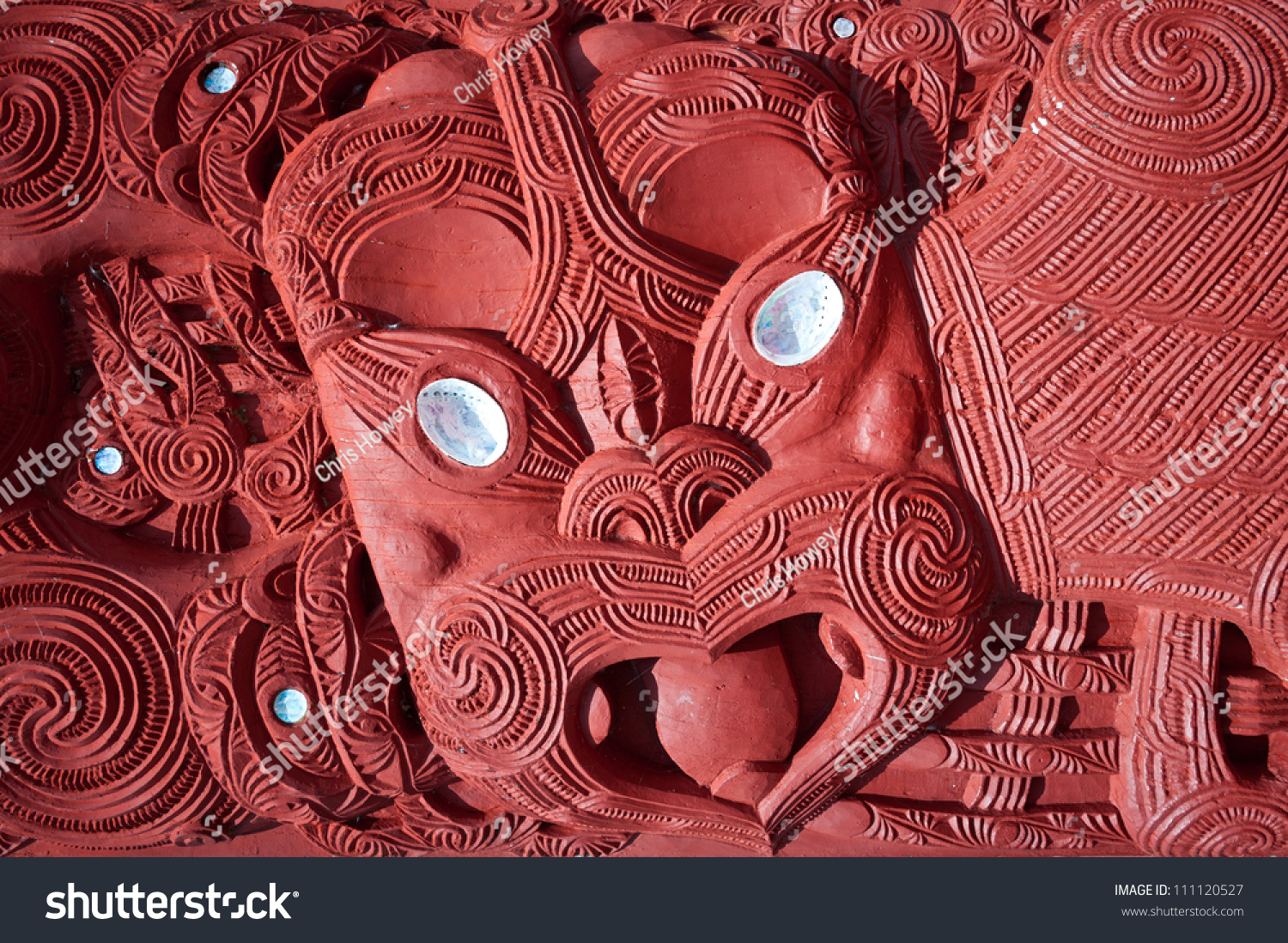 stock photo this image shows a maori carving rotorua new zealand