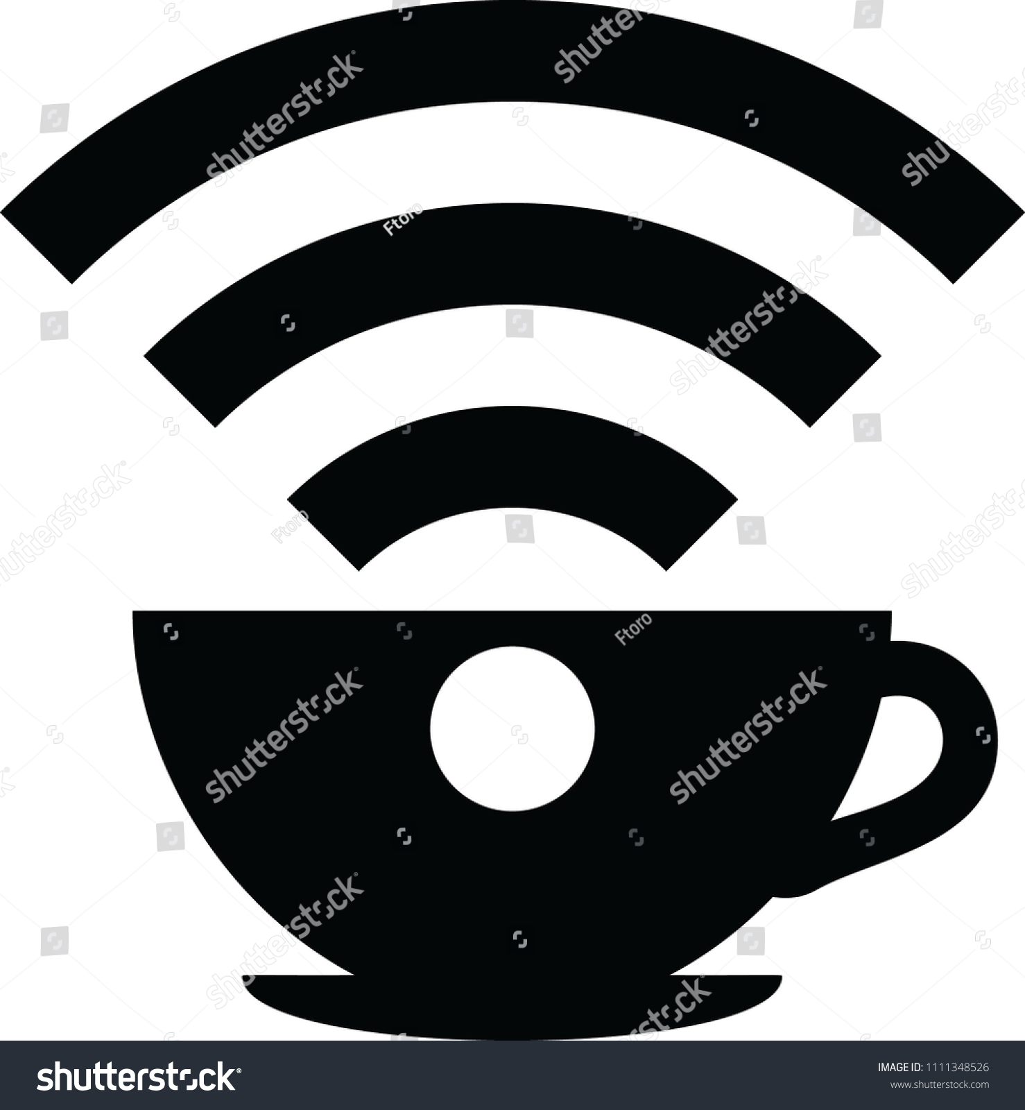 Symbol Wifi Cafe Stock Vector Royalty Free 1111348526 Shutterstock