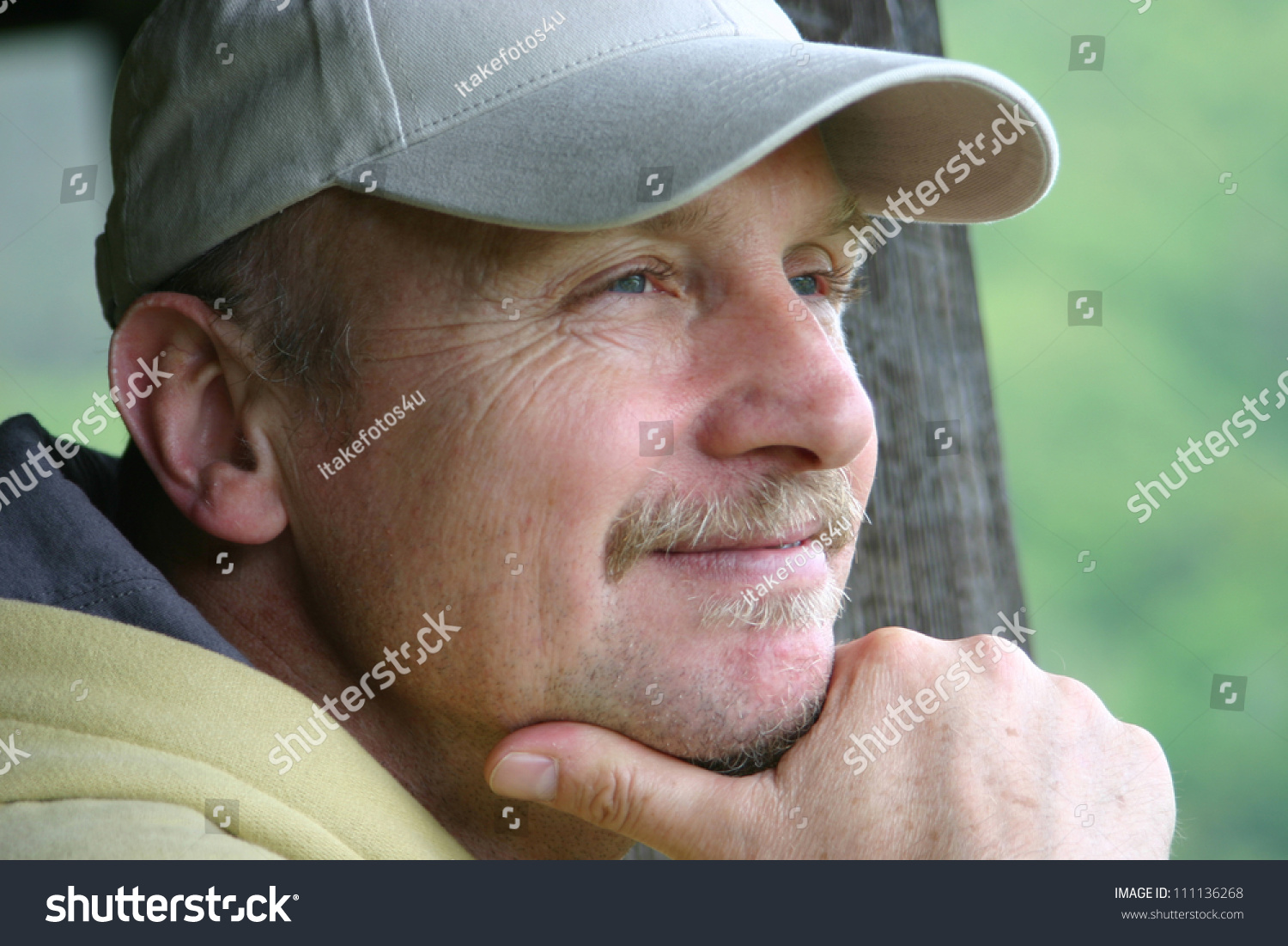 4029b66161b Head Friendly Handsome Middleaged Man Wearing Stock Photo (Edit Now ...