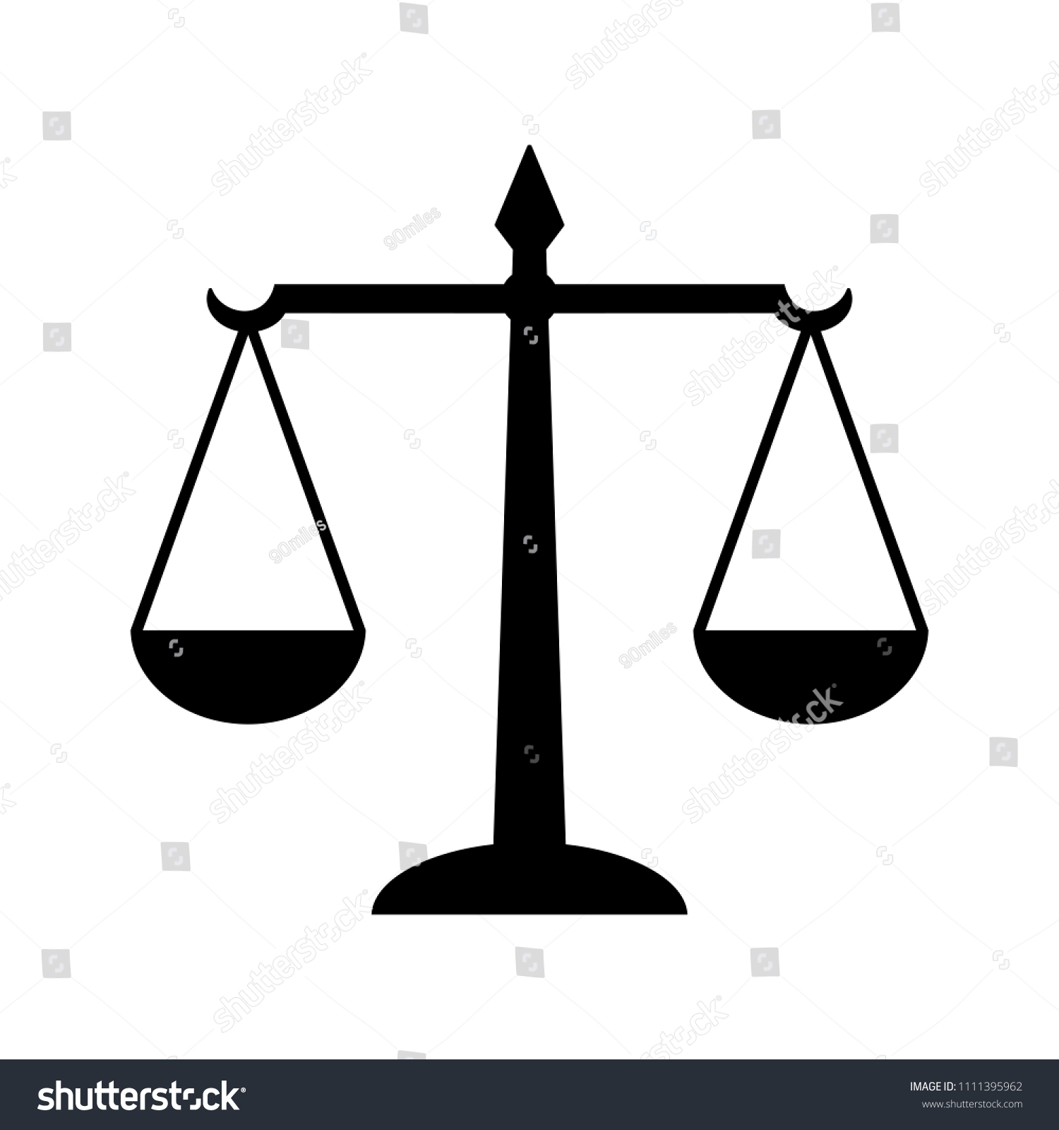 Law Scales Justice Icon Symbol Law Stock Illustration 1111395962