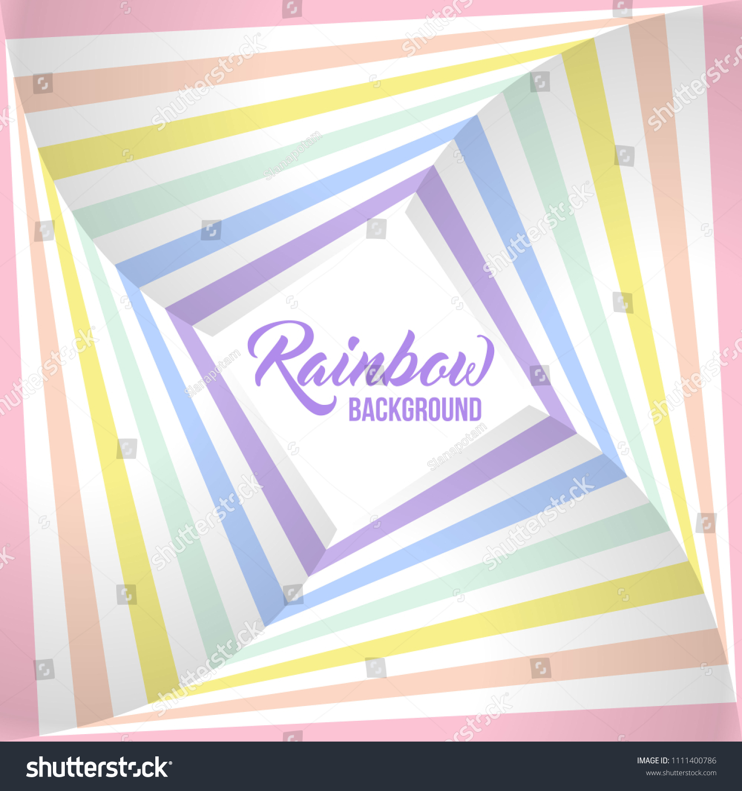Geometric Striped Background, Pastel Rainbow Spectrum Colors Lgbtq Colors Abstract