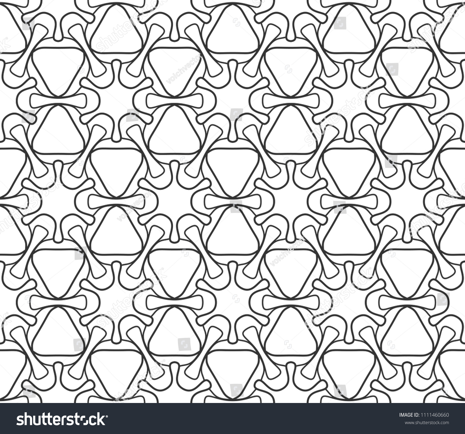 Seamless Geometric Line Pattern In Arabic Style Repeating Linear Texture