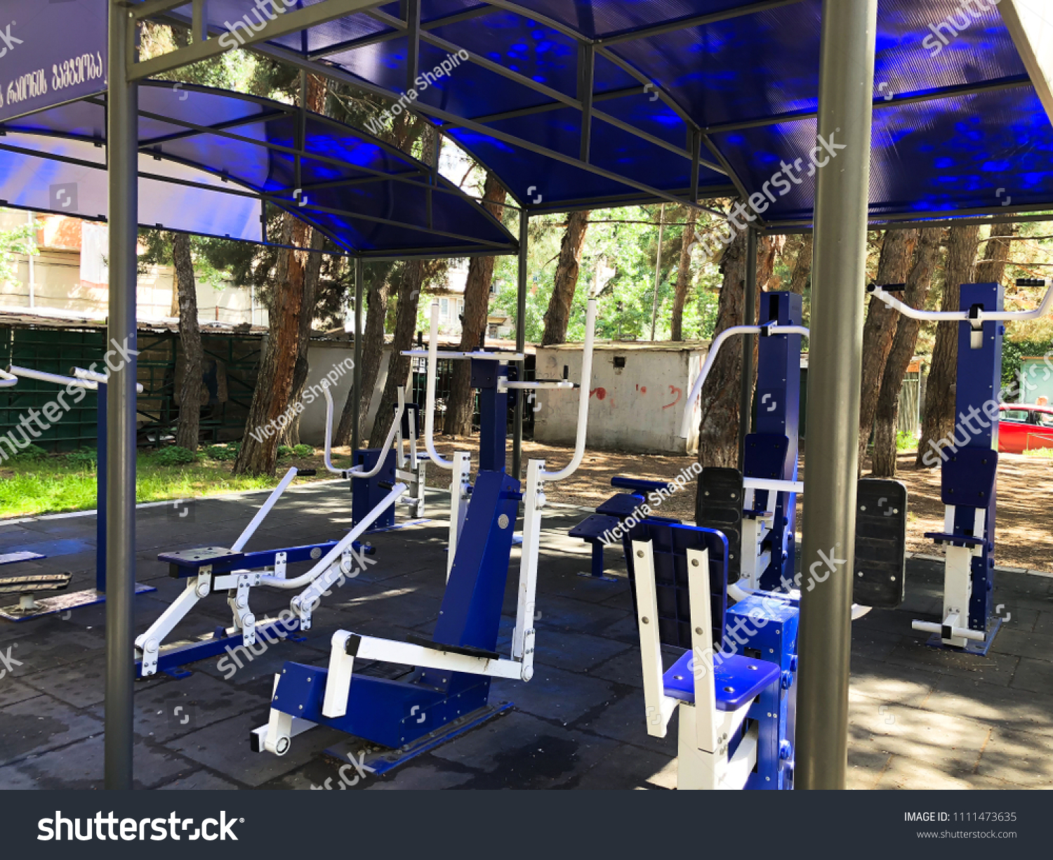 a66f36f5f83 TBILISI GEORGIAMAY 17 2018 Exercise Equipment Stock Photo (Edit Now ...
