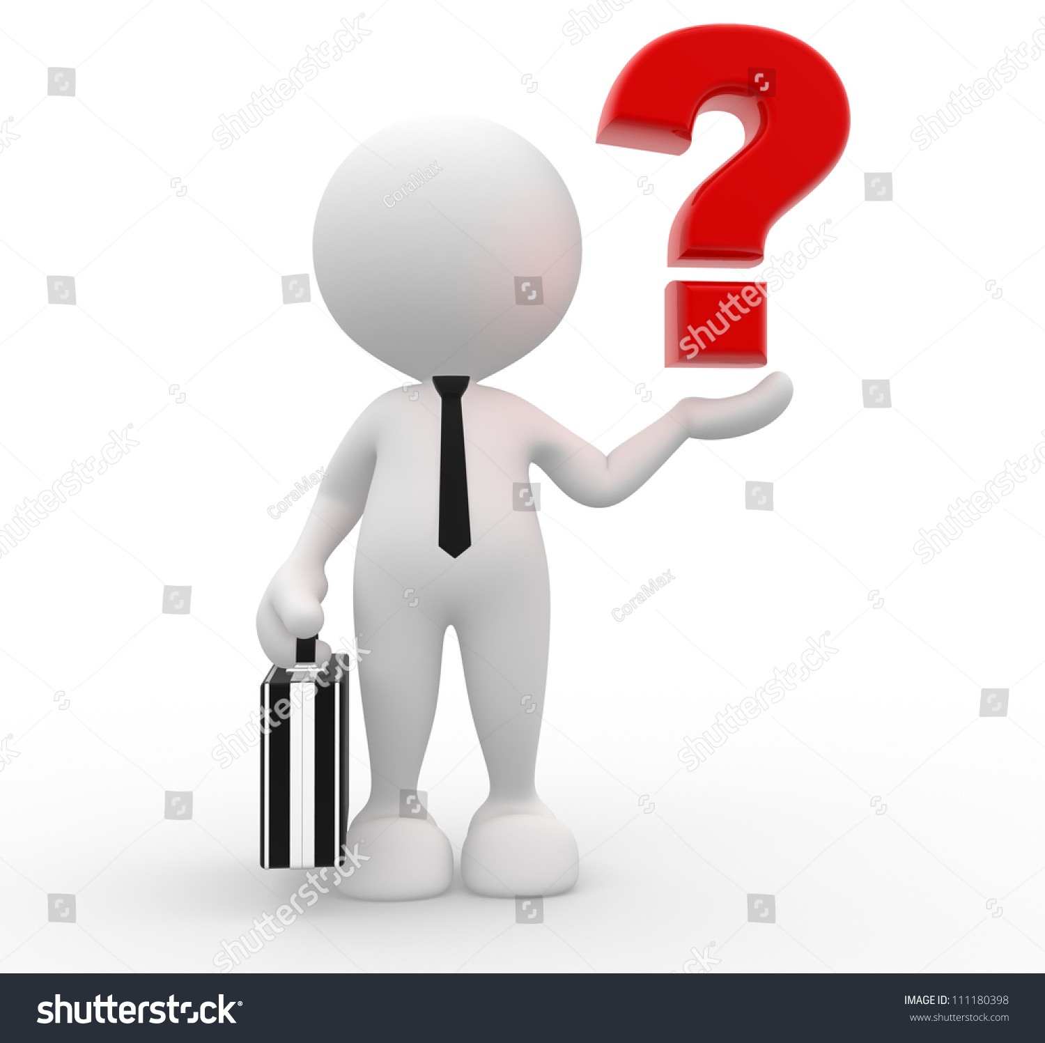 3d person with magnifying glass and question mark stock images image - 3d People Man Person With A Question Mark Businessman