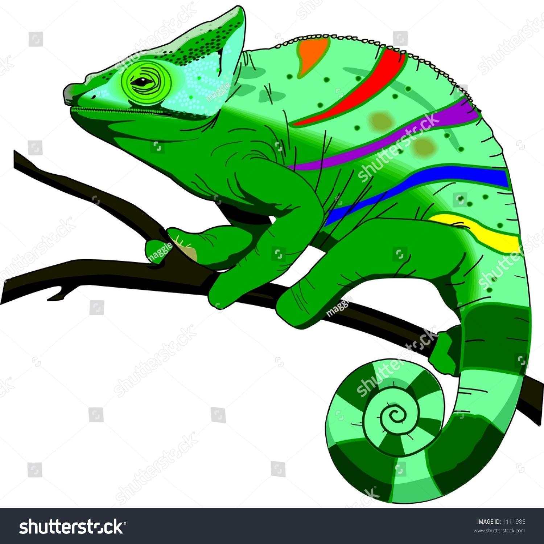 chameleon illustration stock illustration 1111985