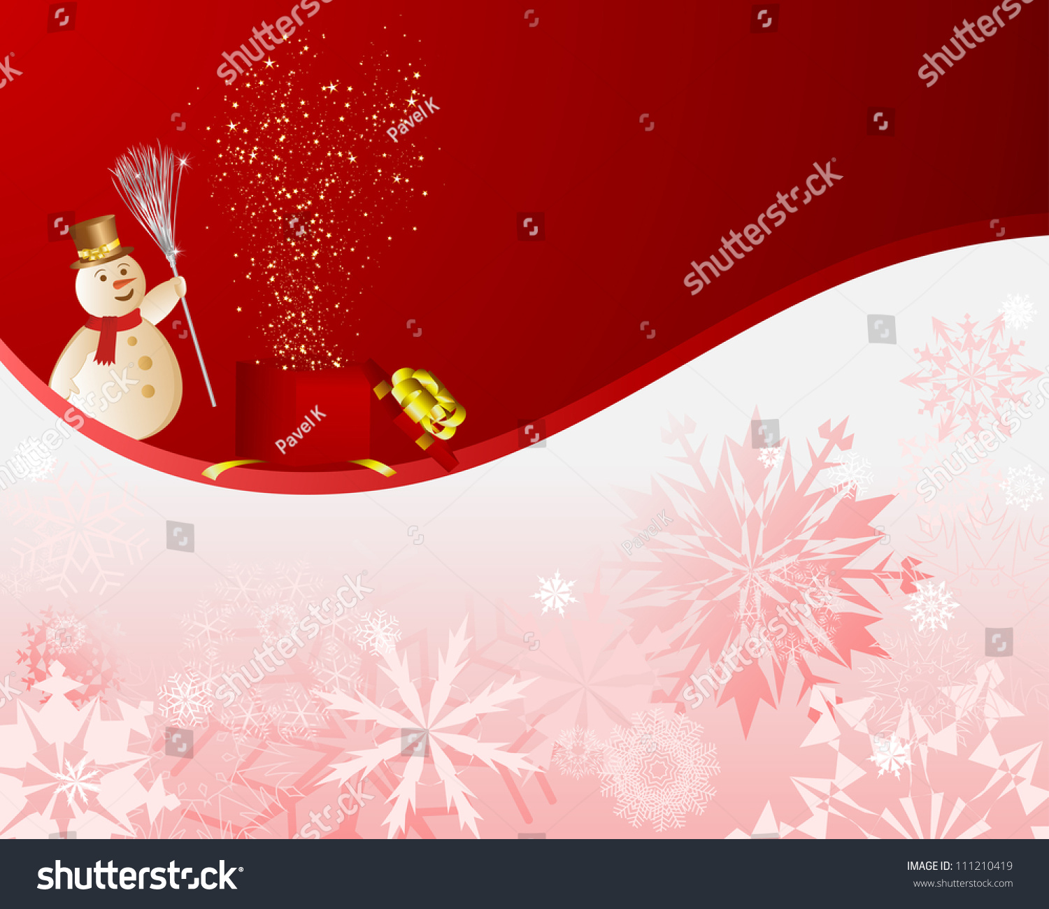 beautiful christmas new year card for design use