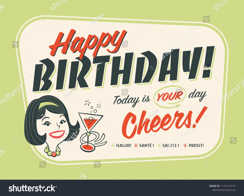 Postcards happy birthday style chebbi