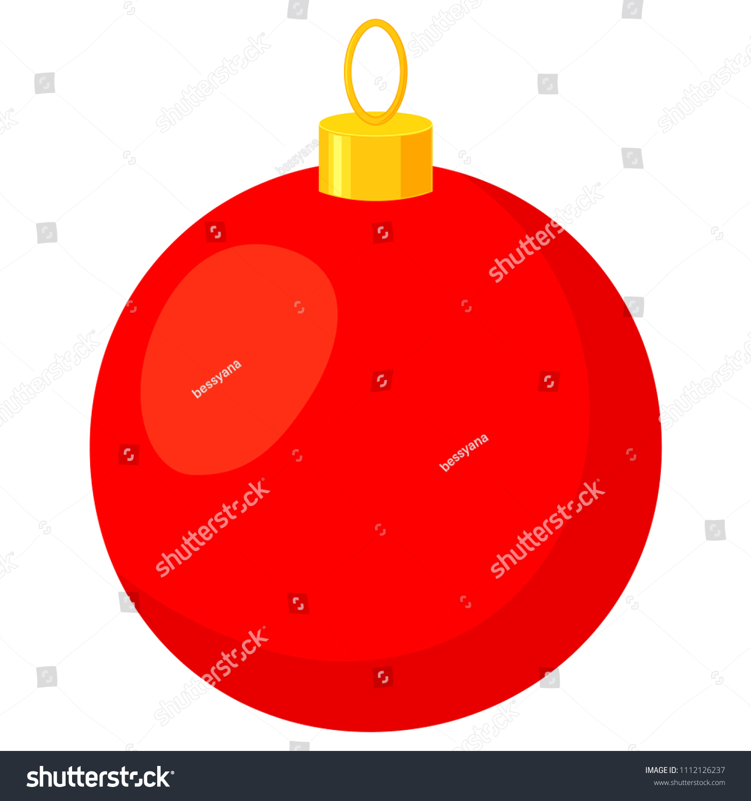 Colorful Cartoon Red Christmas Ball Xmas Tree Decoration New Year