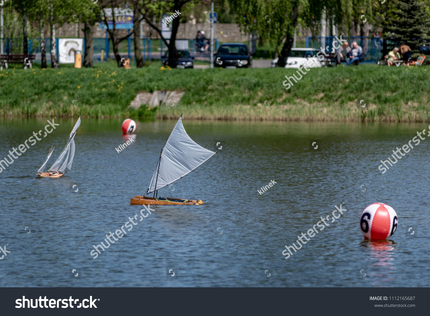 Rc Scale Sailing Model Ship Competitions Stock Photo (Edit