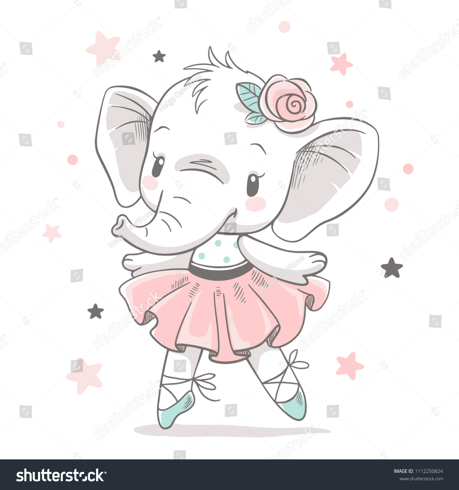 Elephant Ballerina Cartoon