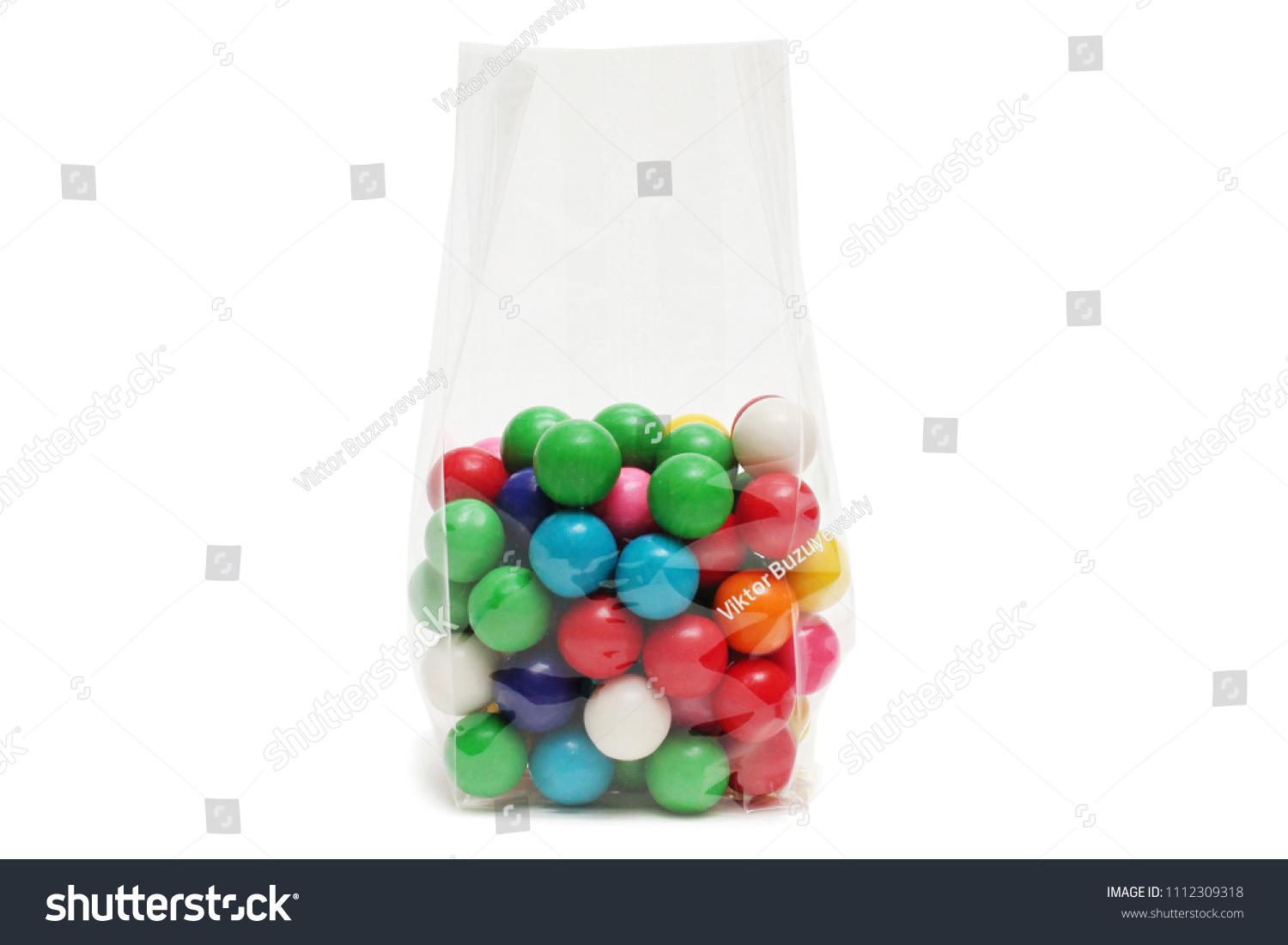 Cellophane Bag Candy White Bag Package Stock Photo Royalty Free