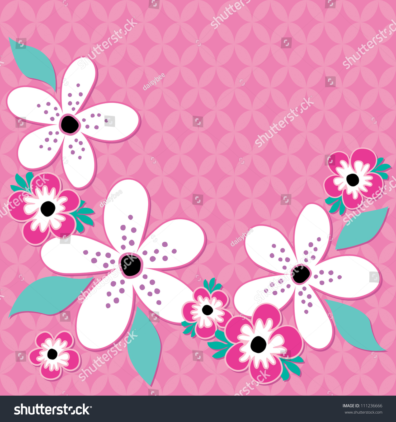 Raster greeting card template pink white stock illustration raster greeting card template in pink and white great for birthday easter thank kristyandbryce Images