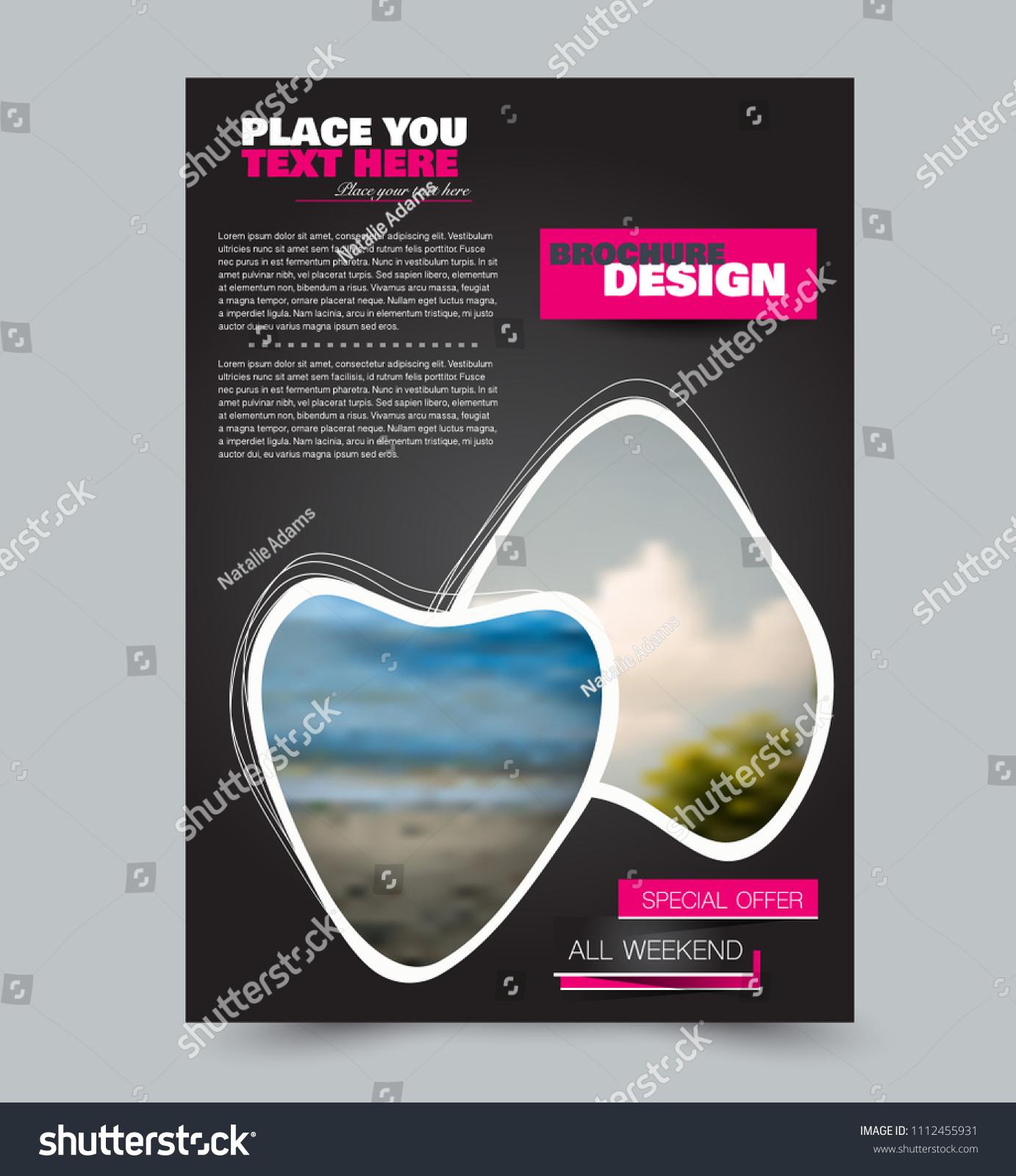 Flyer Design Template Brochure Layout School Stock Vector (2018 ...